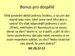 bonus pro dosp l