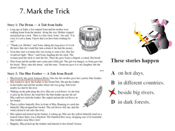 7. Mark the Trick