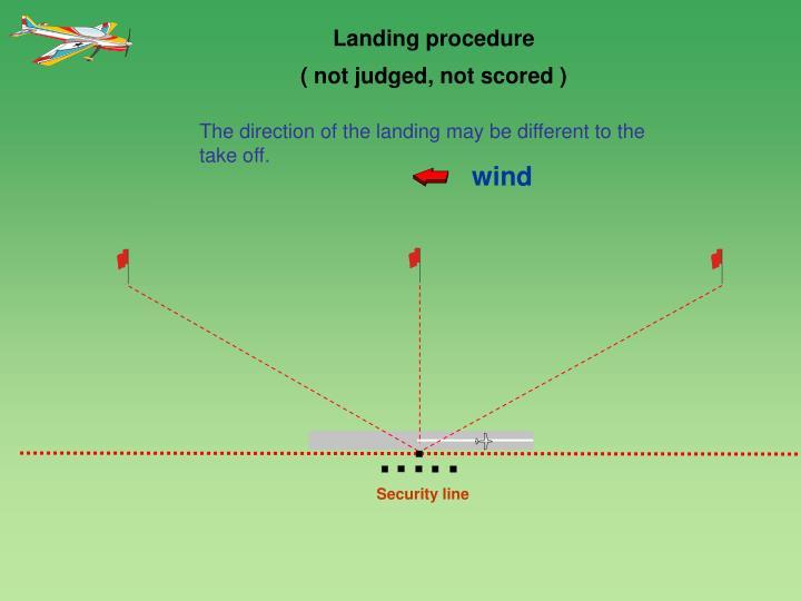 Landing procedure