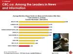 cbc ca among the leaders in news and information