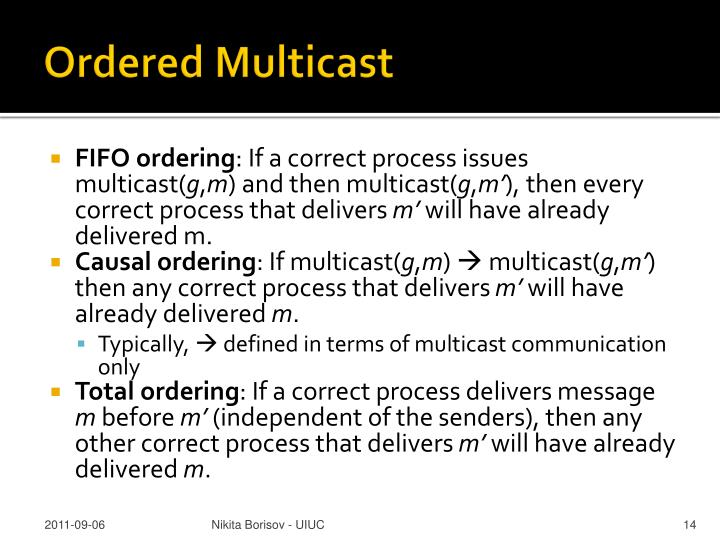Ordered Multicast