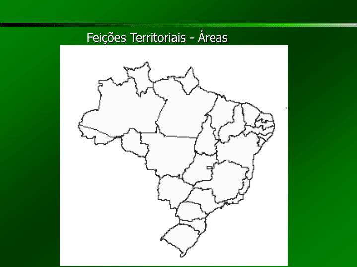 Feições Territoriais - Áreas