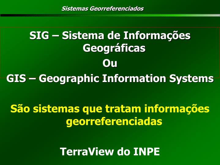 Sistemas Georreferenciados