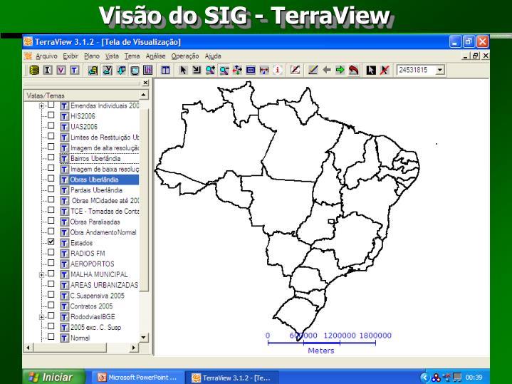 Visão do SIG - TerraView
