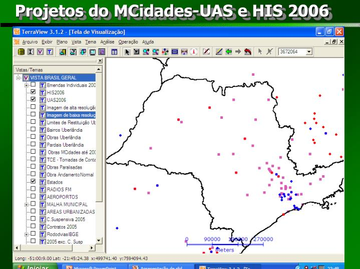 Projetos do MCidades-UAS e HIS 2006