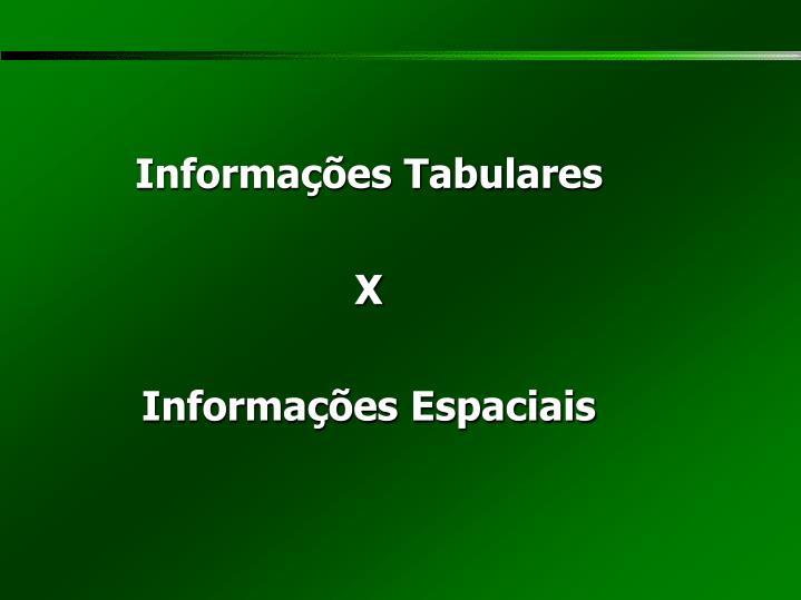 Informações Tabulares