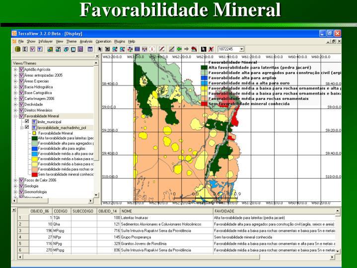 Favorabilidade Mineral