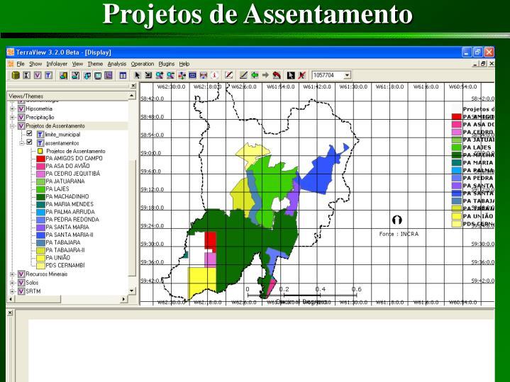 Projetos de Assentamento
