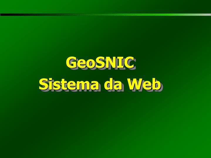 GeoSNIC
