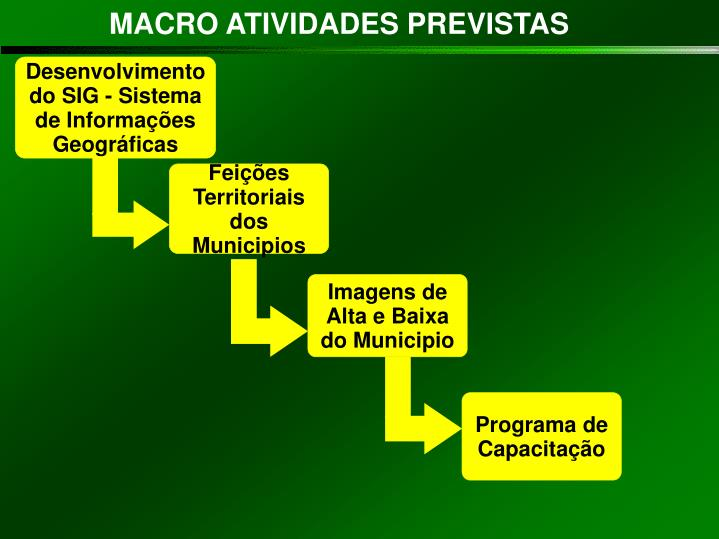 Feições Territoriais dos Municipios