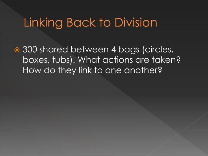 Linking Back to Division