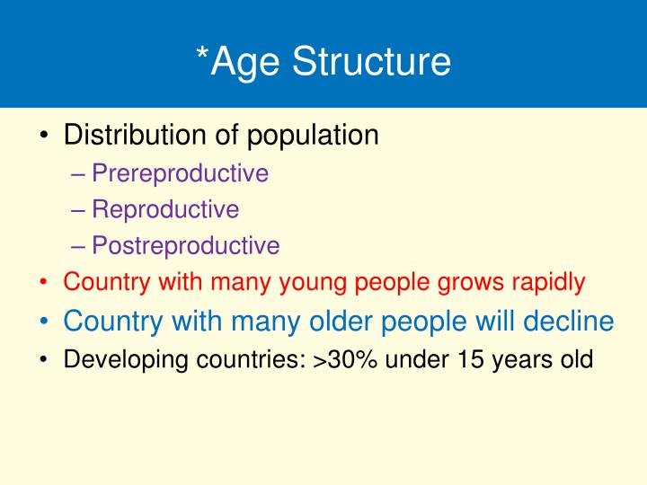 *Age Structure