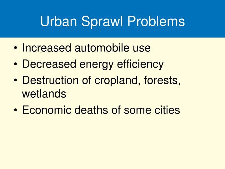 Urban Sprawl Problems