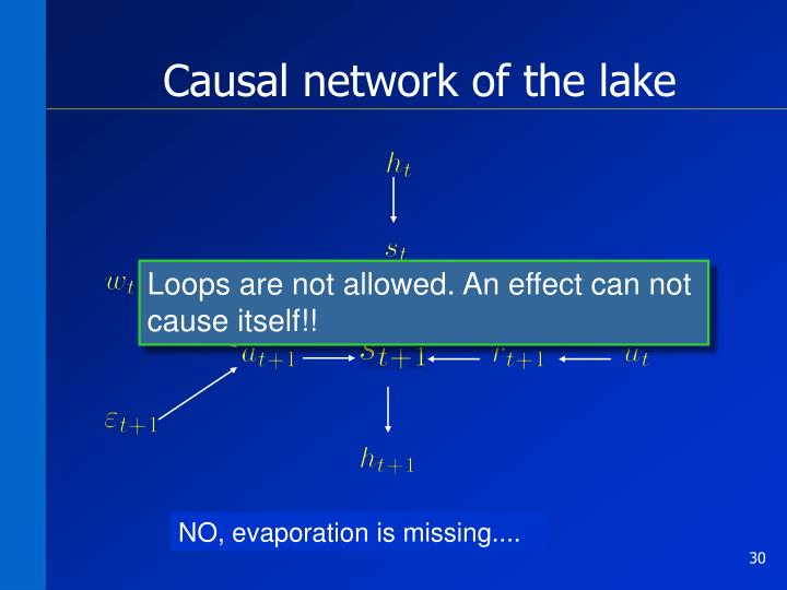 Causal network of the lake