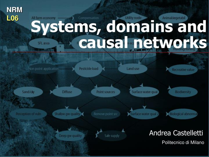 Systems domains and causal networks