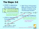 the steps 5 6