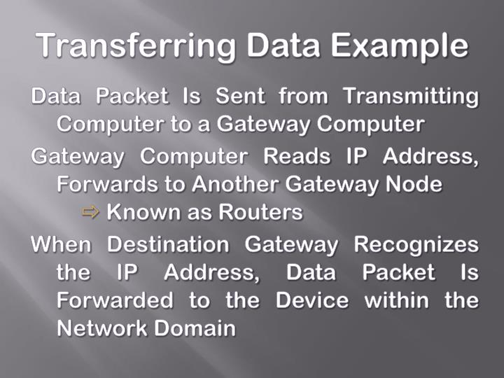 Transferring Data Example