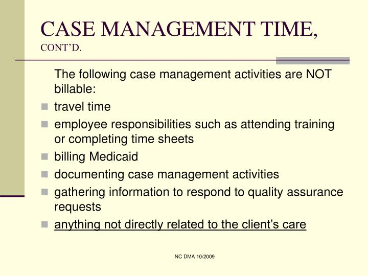 CASE MANAGEMENT TIME,