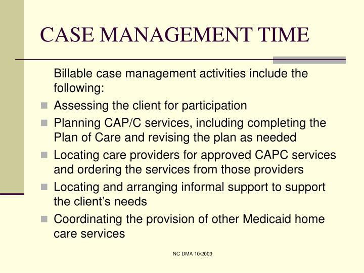 Case management time