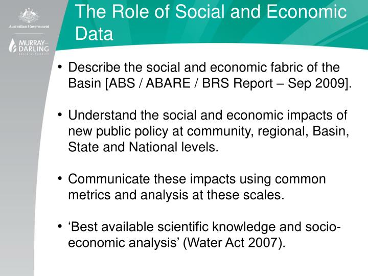 The Role of Social and Economic Data