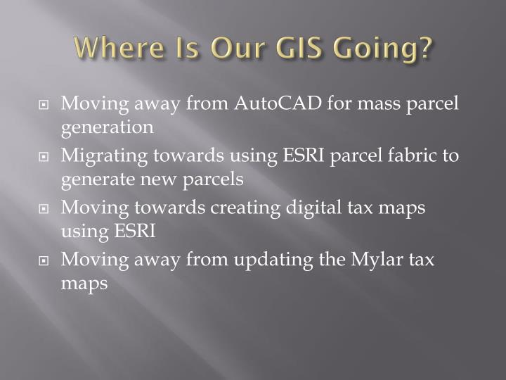 Where Is Our GIS Going?