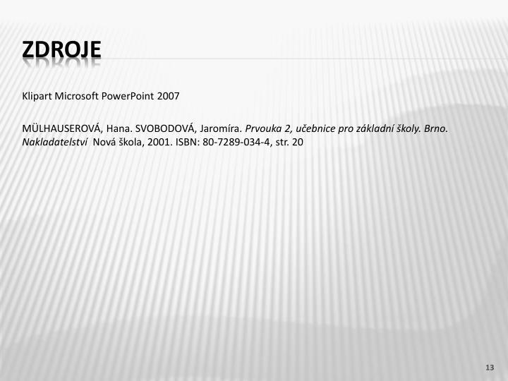 Klipart Microsoft PowerPoint 2007