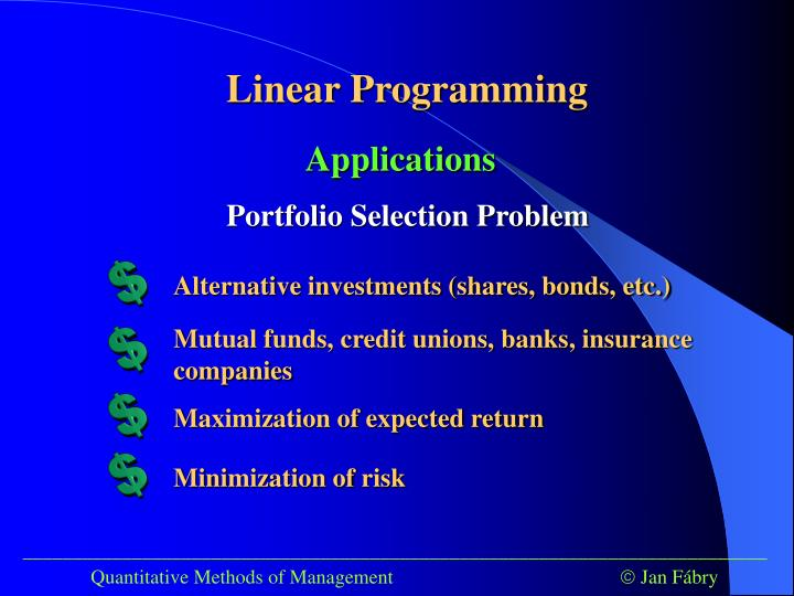 Alternative investments (shares, bonds, etc.)