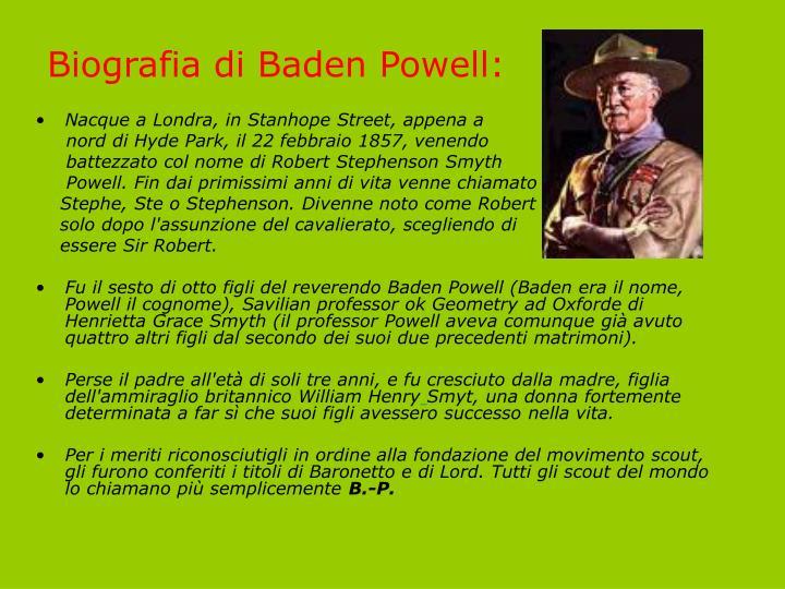 Biografia di Baden Powell: