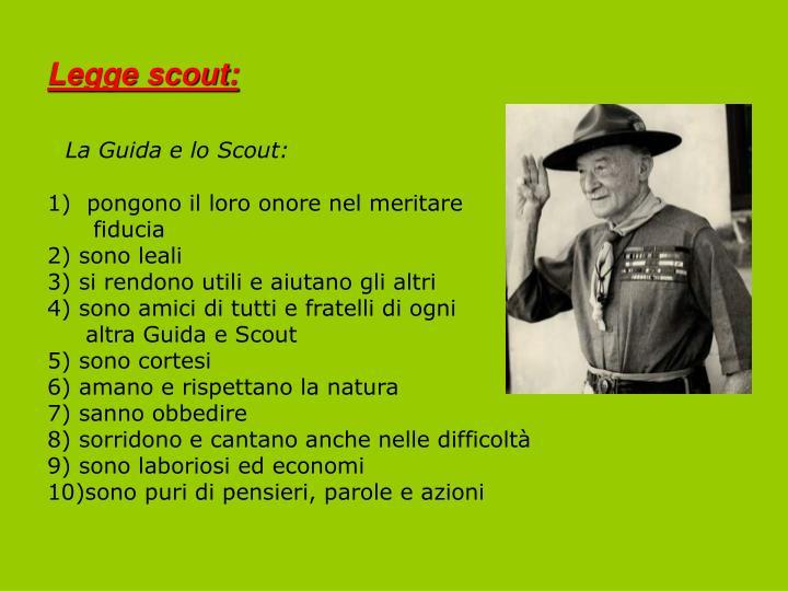 Legge scout: