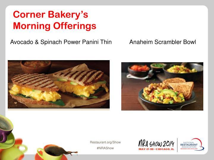 Corner Bakery's