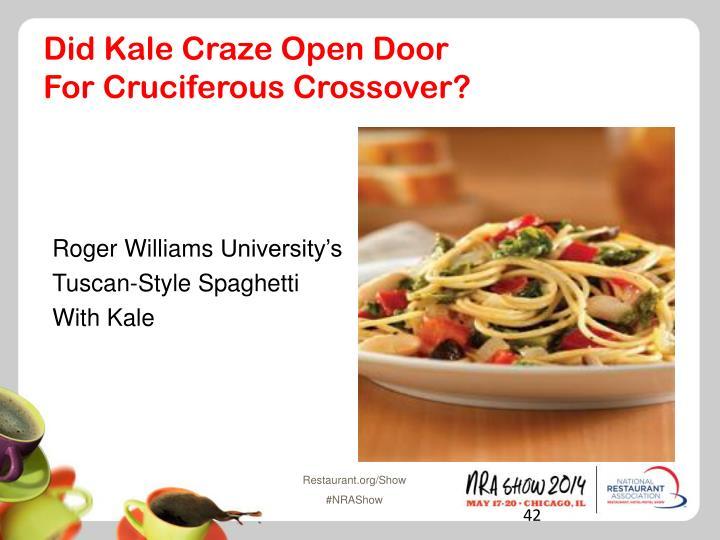 Did Kale Craze Open Door
