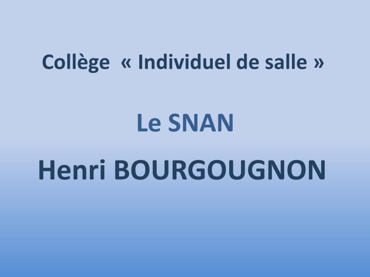 Collège  «Individuel de salle»