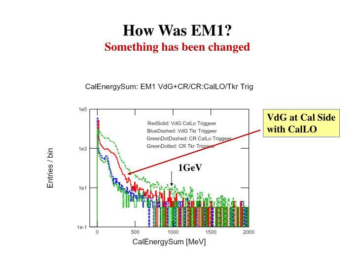 How Was EM1?