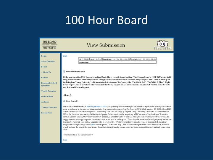 100 Hour Board