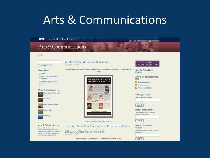 Arts & Communications