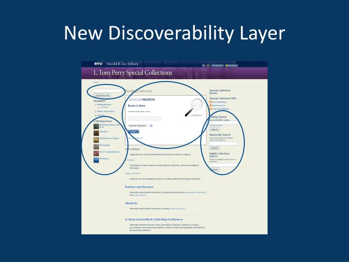 New Discoverability Layer