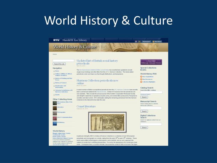 World History & Culture