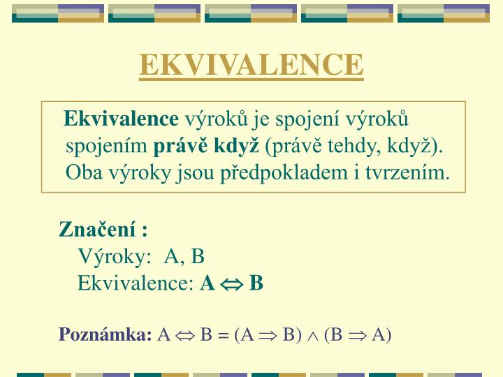 EKVIVALENCE