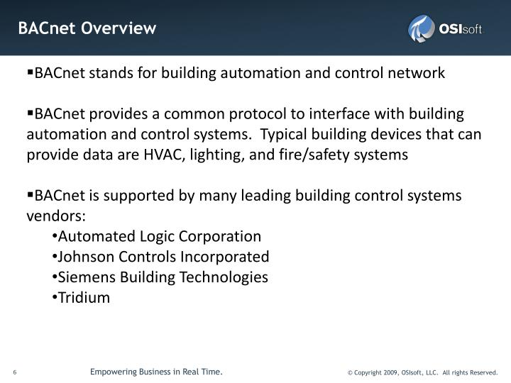 BACnet stands for building automation and control network