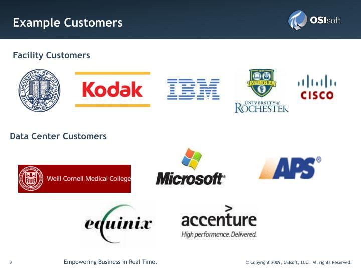 Example Customers