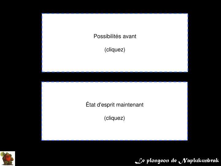 Possibilités avant