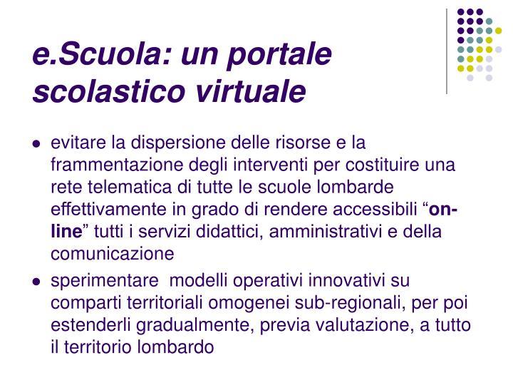 e.Scuola: un portale scolastico virtuale