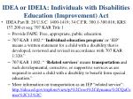 idea or ideia individuals with disabilities education improvement act