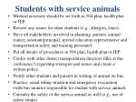students with service animals