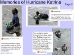 memories of hurricane katrina