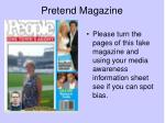 pretend magazine