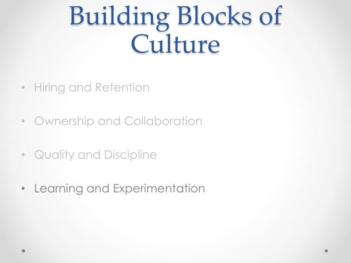 Building Blocks of Culture