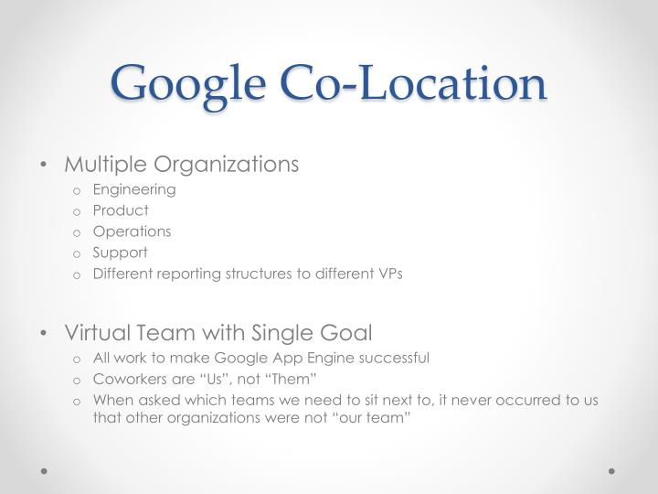 Google Co-Location