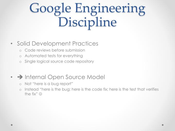 Google Engineering Discipline