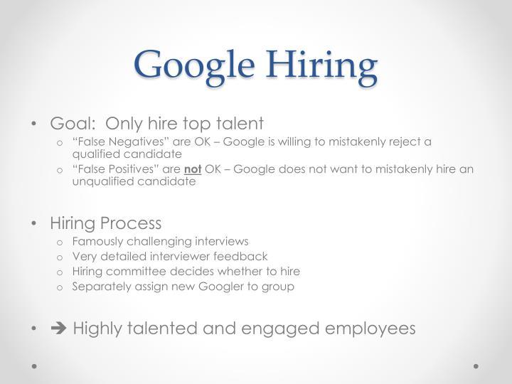 Google Hiring
